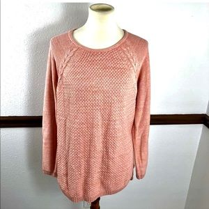 Sonoma pink sweater size large
